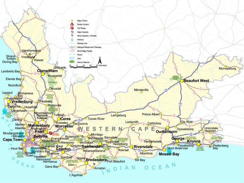 Cape Province South Africa Map | Map Of Africa
